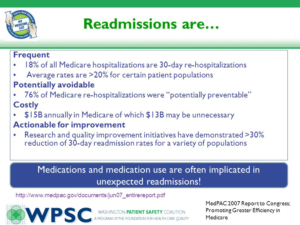 Readmissions are… Frequent. 18% of all Medicare hospitalizations are 30-day re-hospitalizations.