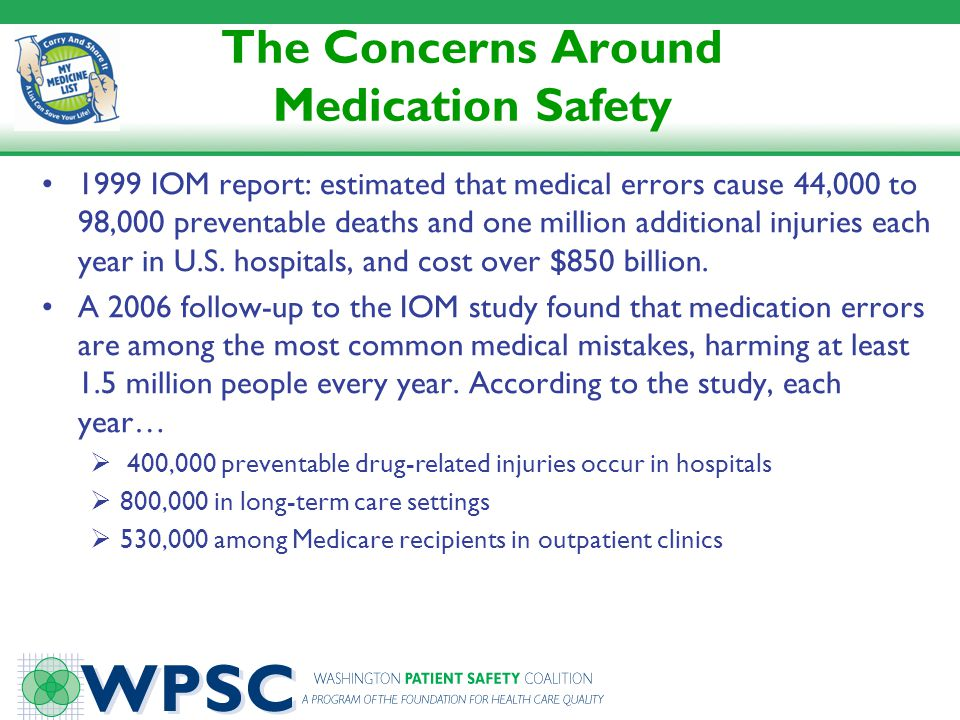 The Concerns Around Medication Safety