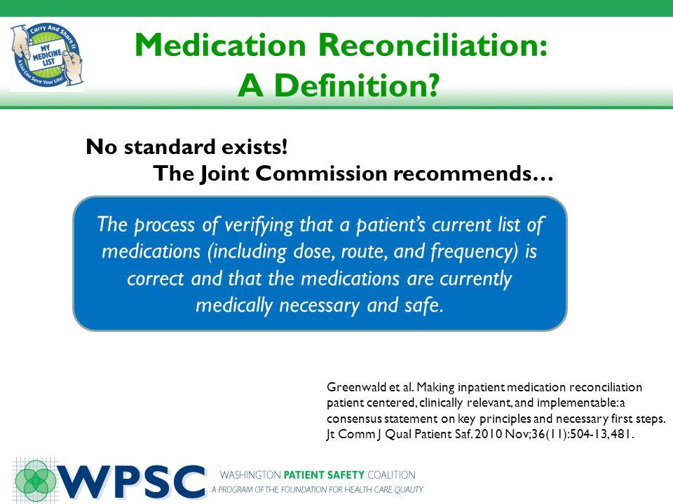 Medication Reconciliation: