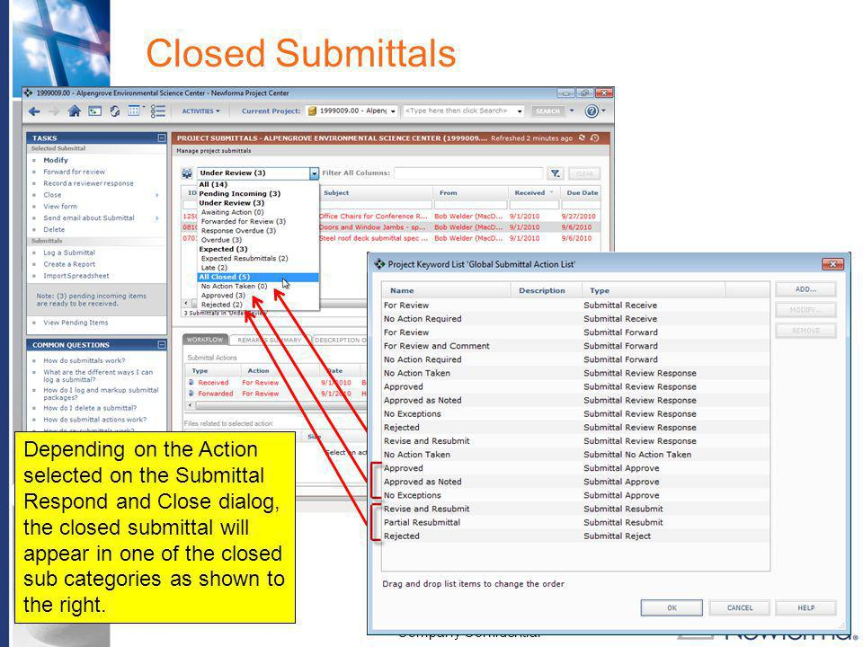 Closed Submittals