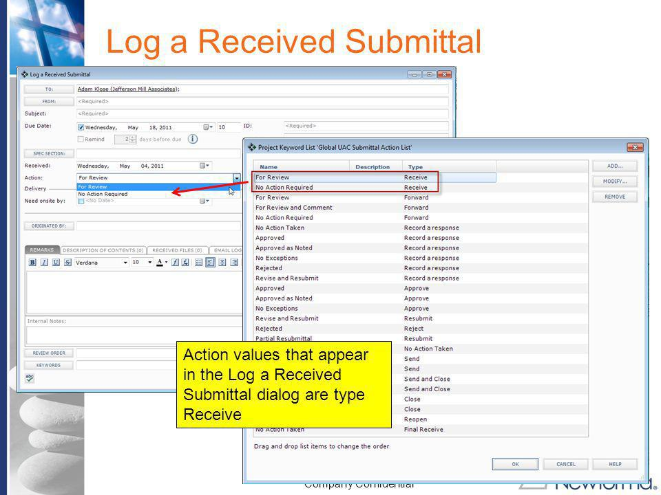 Log a Received Submittal