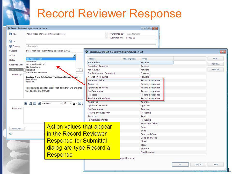 Record Reviewer Response