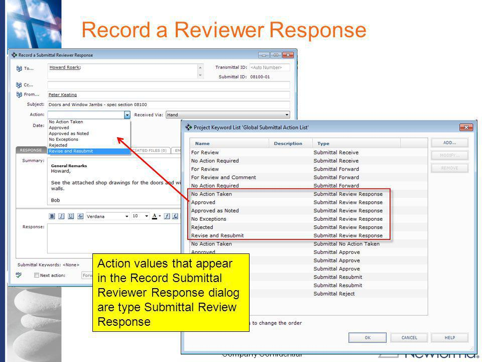 Record a Reviewer Response