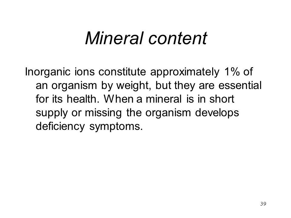 Mineral content