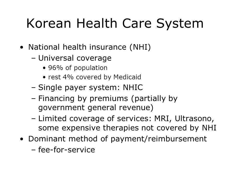 Korean Health Care System