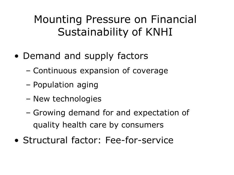 Mounting Pressure on Financial Sustainability of KNHI