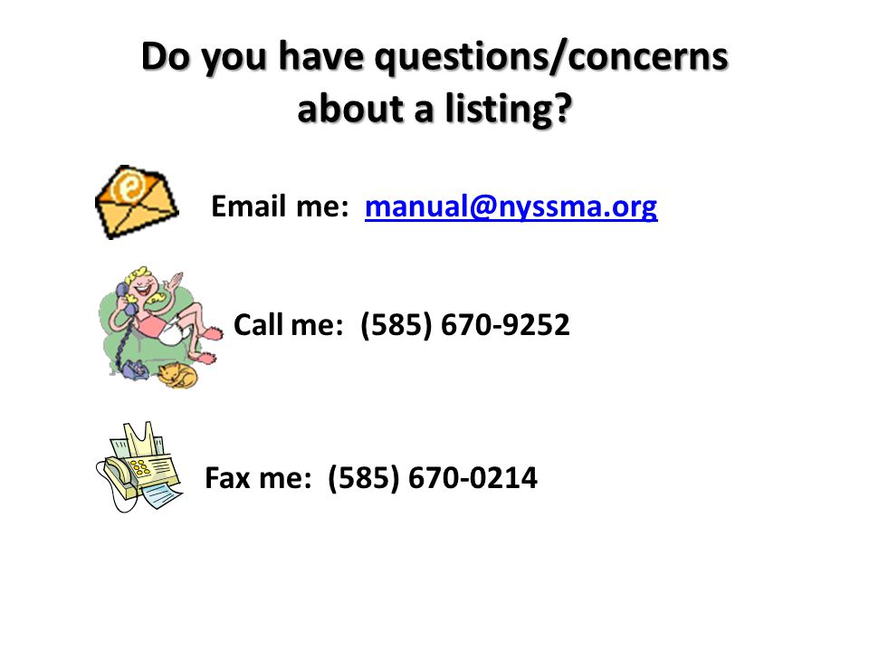 Do you have questions/concerns about a listing