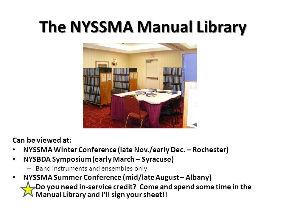 The NYSSMA Manual Library