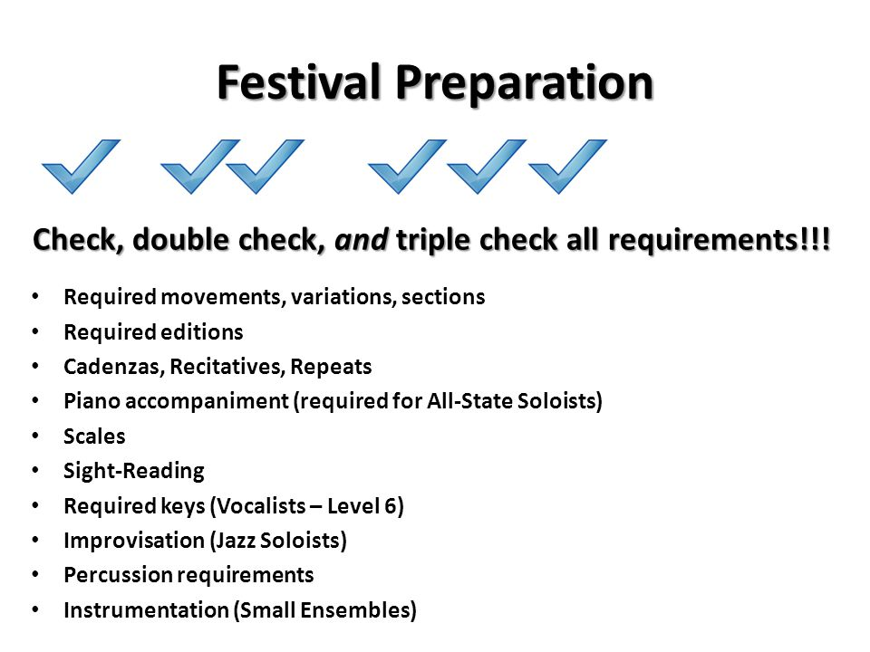 Check, double check, and triple check all requirements!!!
