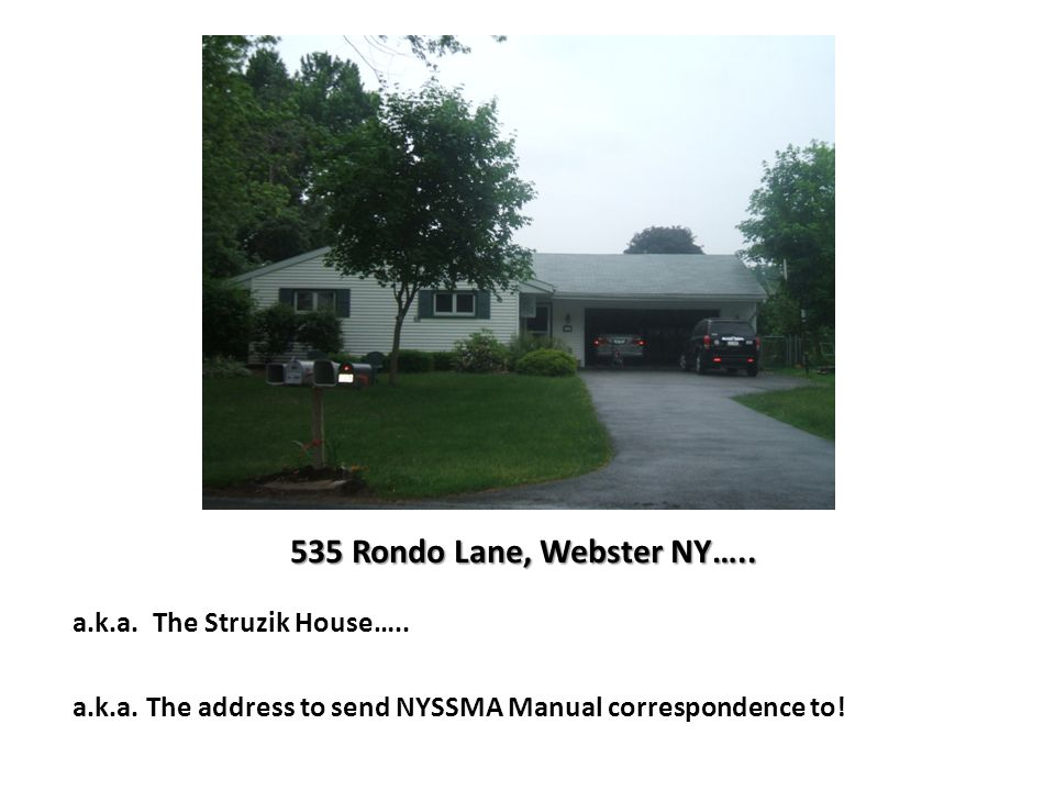 a.k.a. The address to send NYSSMA Manual correspondence to!