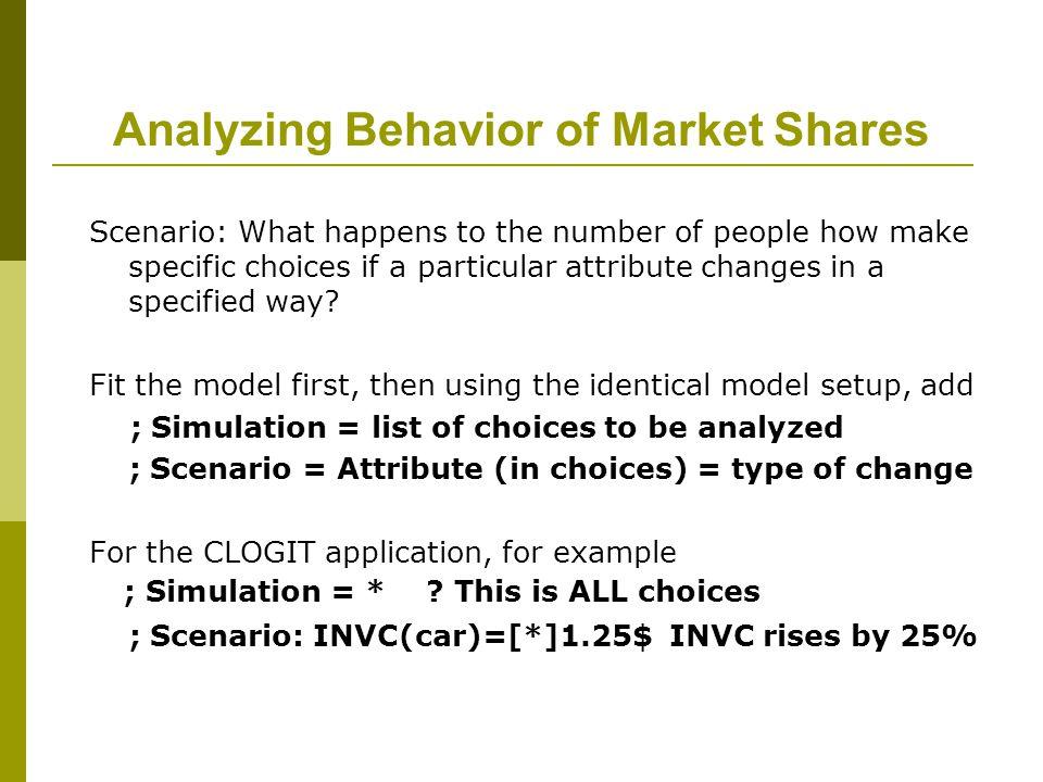 Analyzing Behavior of Market Shares
