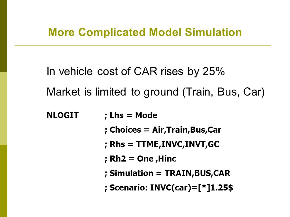 More Complicated Model Simulation