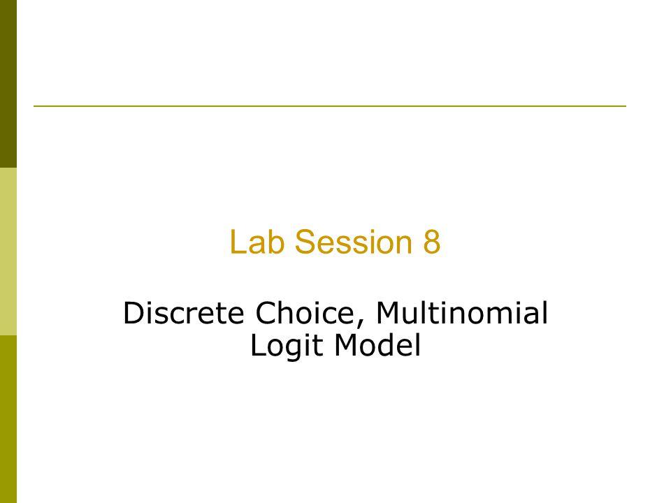 Discrete Choice, Multinomial Logit Model
