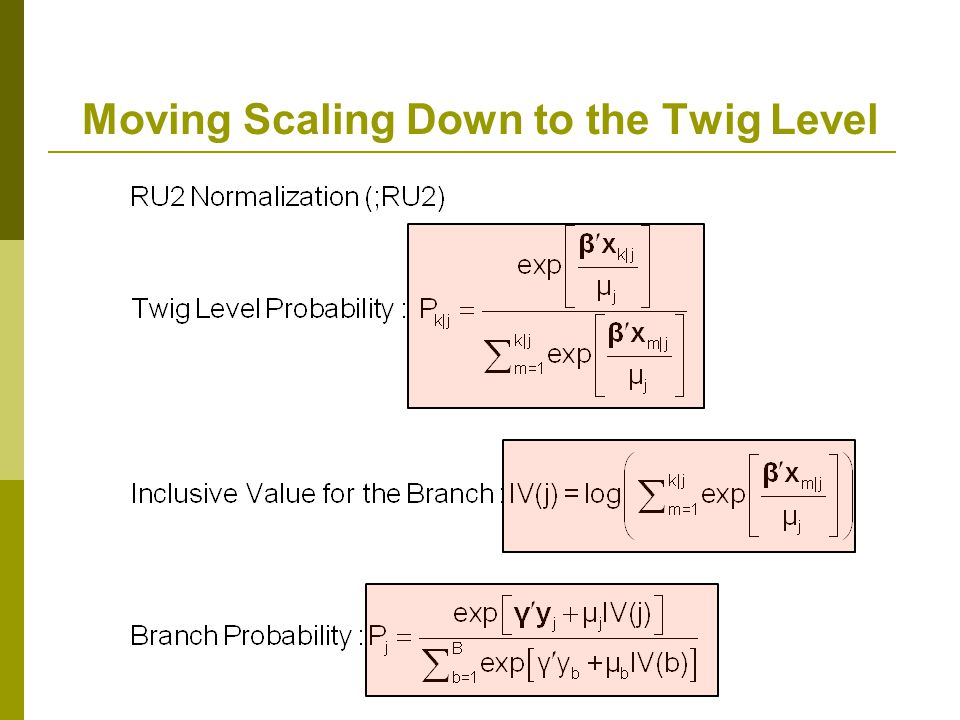 Moving Scaling Down to the Twig Level