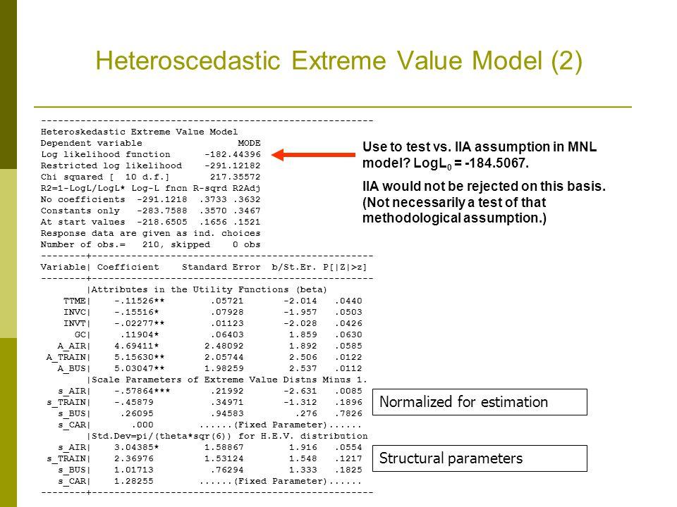 Heteroscedastic Extreme Value Model (2)
