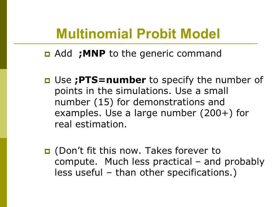 Multinomial Probit Model