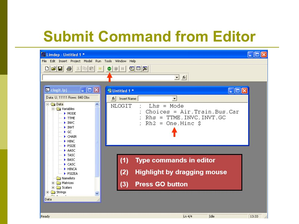 Submit Command from Editor