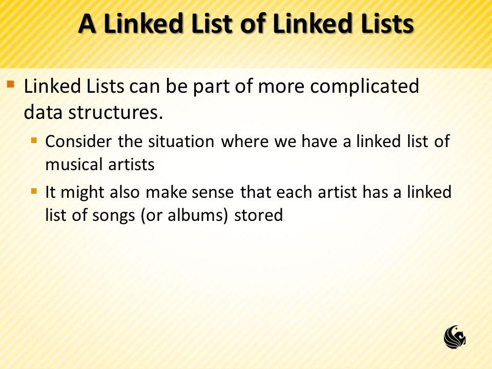 A Linked List of Linked Lists