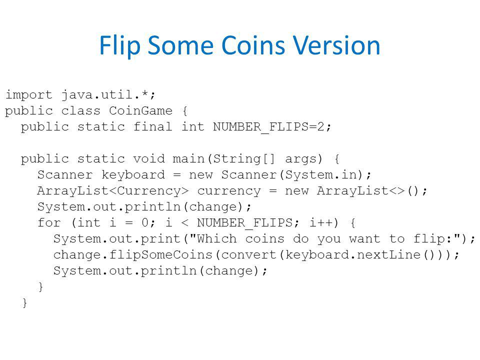 Flip Some Coins Version