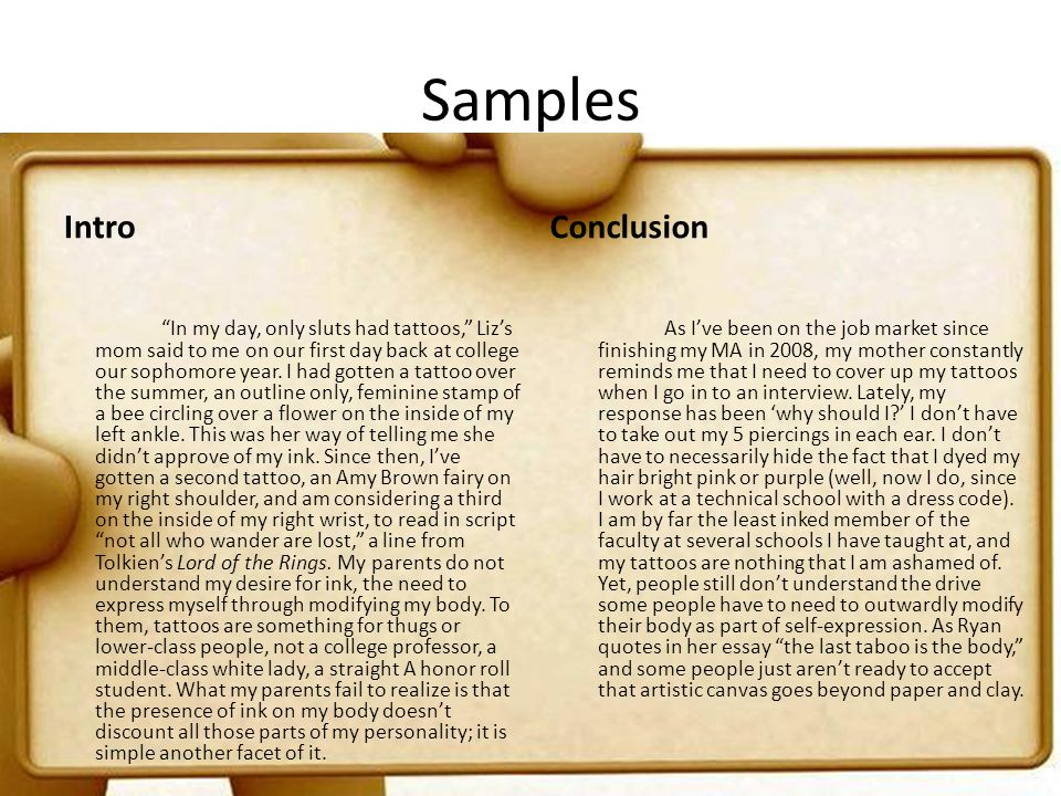 Samples Intro Conclusion