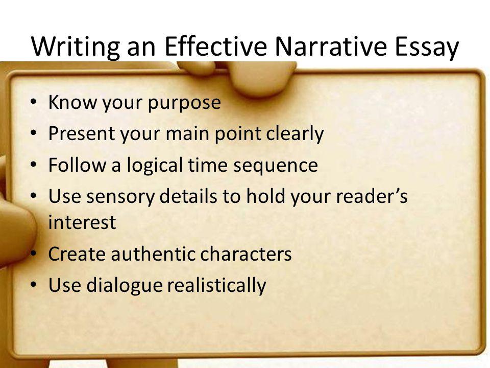 Writing an Effective Narrative Essay