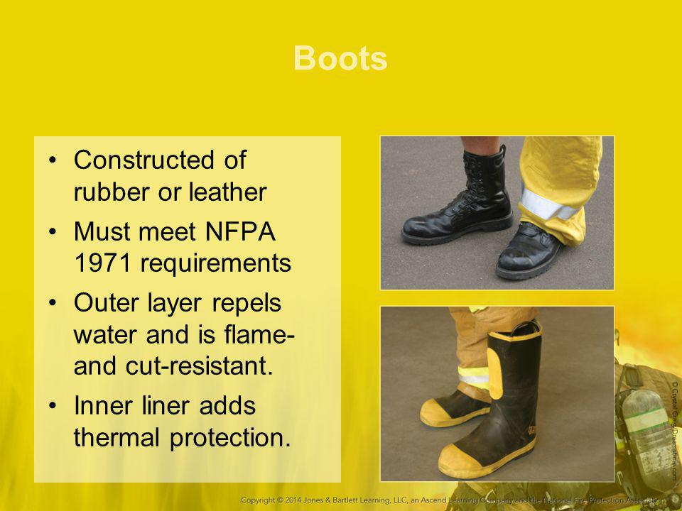 Boots Constructed of rubber or leather