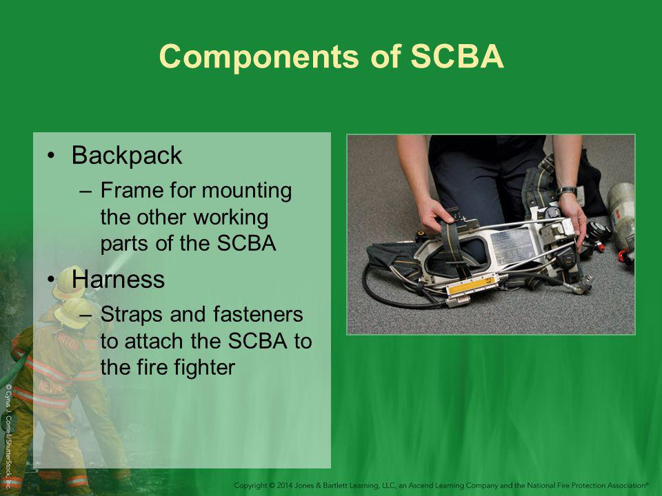 Components of SCBA Backpack Harness