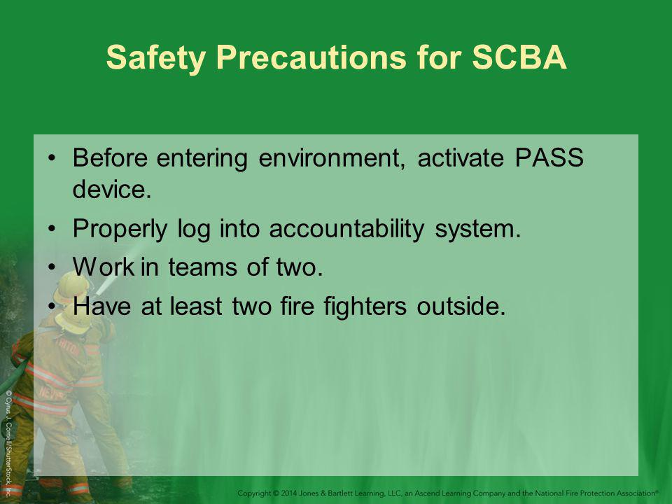 Safety Precautions for SCBA