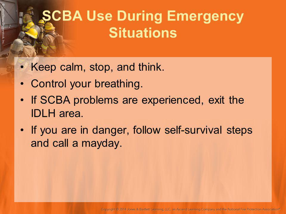 SCBA Use During Emergency Situations