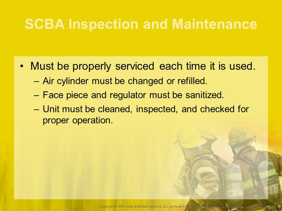 SCBA Inspection and Maintenance