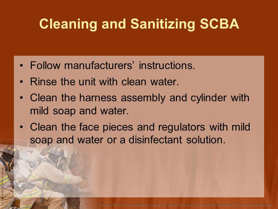 Cleaning and Sanitizing SCBA