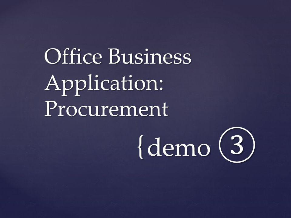 Office Business Application: Procurement