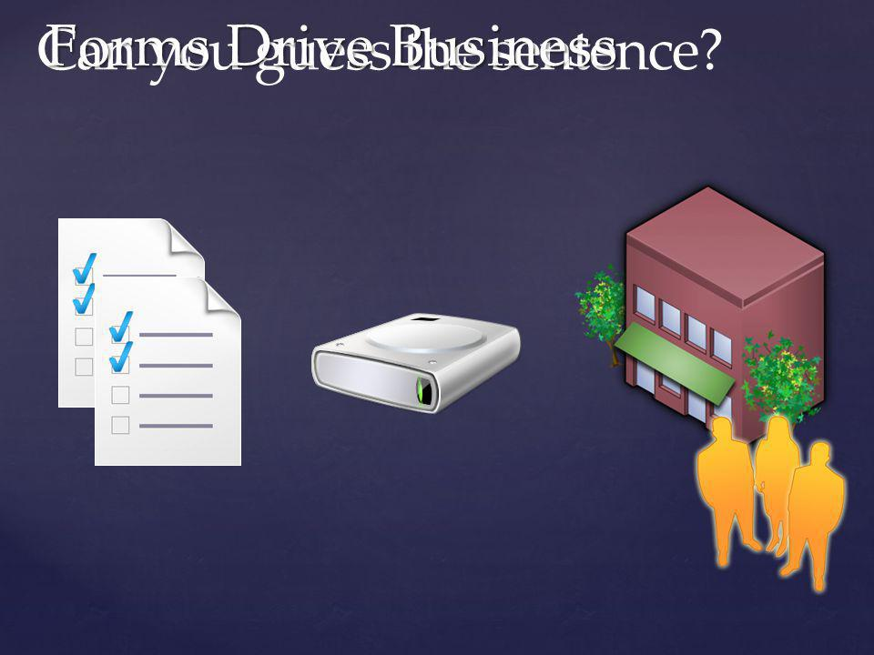 Forms Drive Business Can you guess the sentence