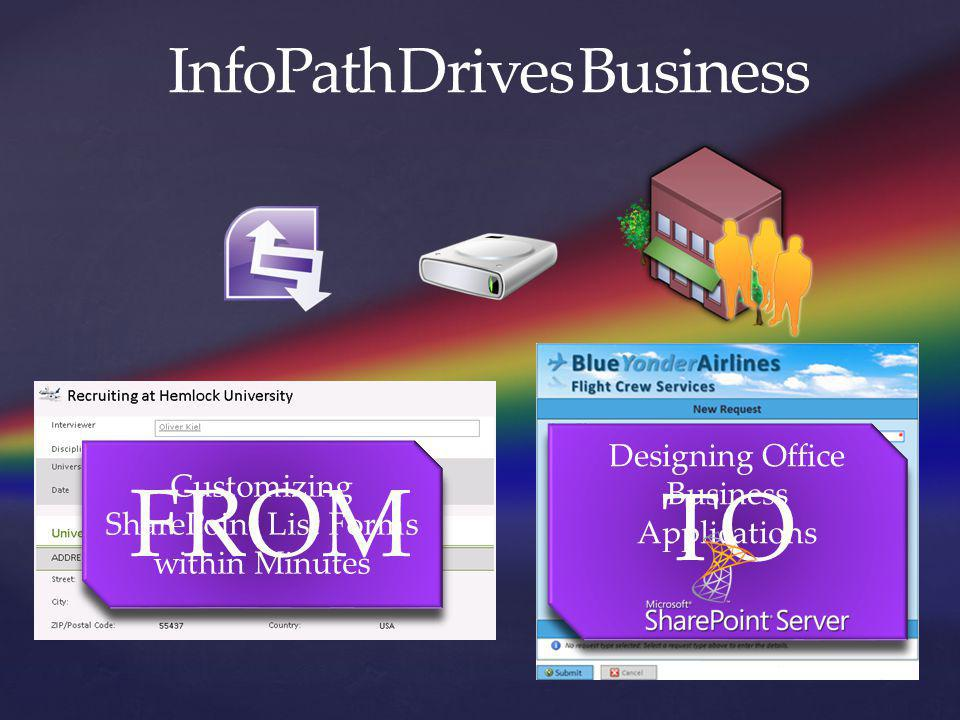 FROM TO InfoPath Drives Business