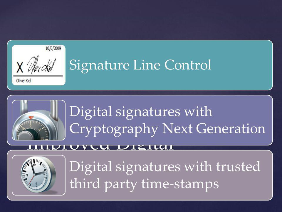 Improved Digital Signatures