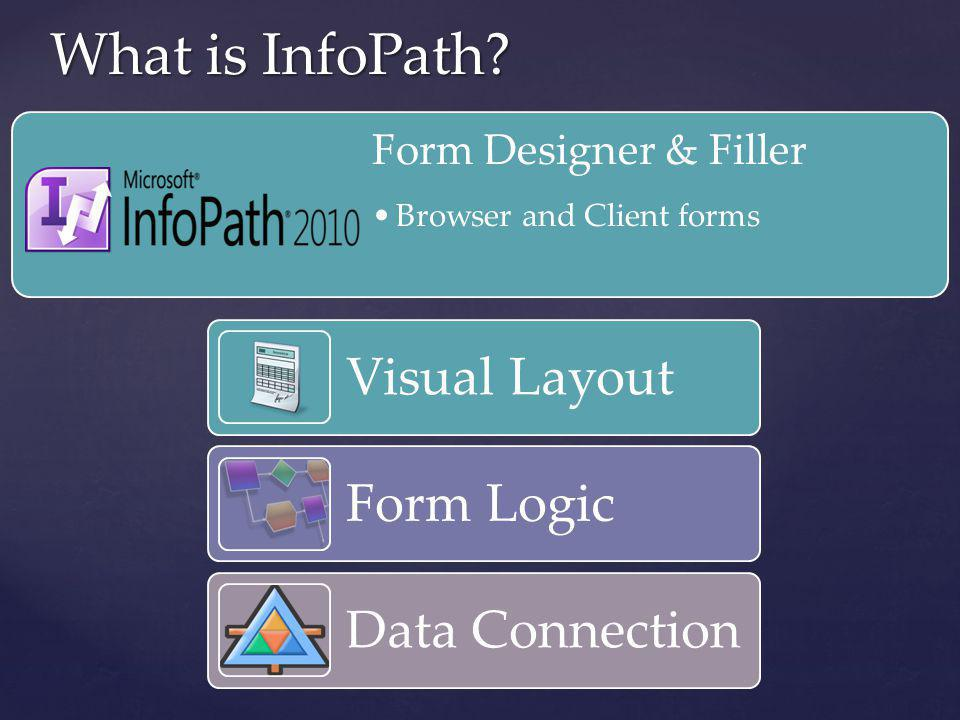 What is InfoPath Visual Layout Form Logic Data Connection