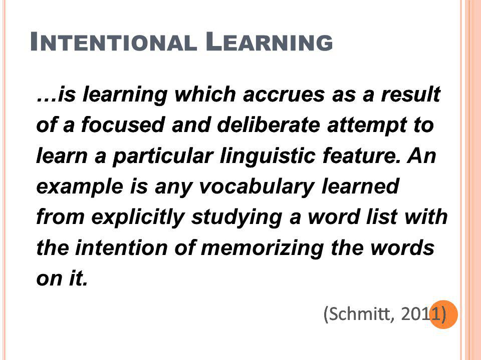 Intentional Learning