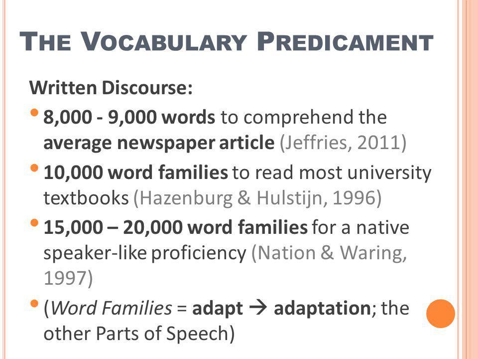 The Vocabulary Predicament