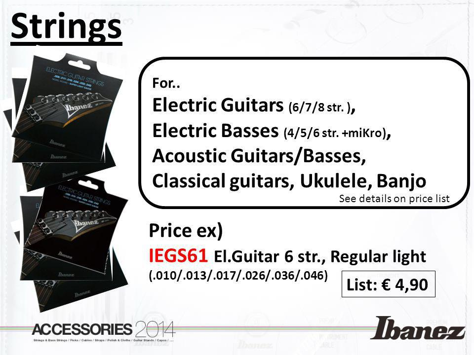 Strings Electric Guitars (6/7/8 str. ),