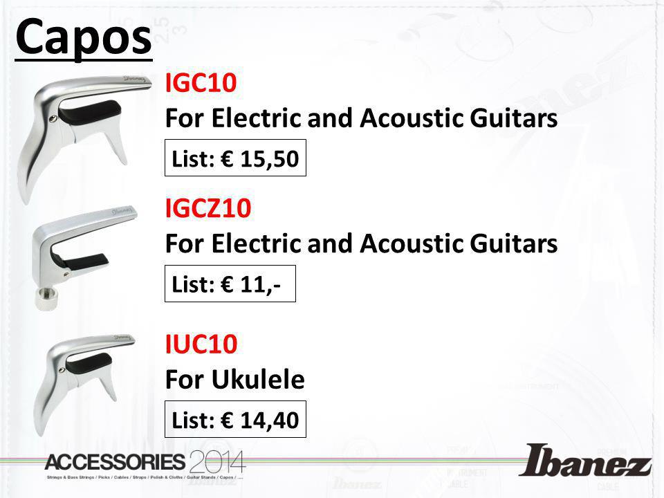 Capos IGC10 For Electric and Acoustic Guitars IGCZ10
