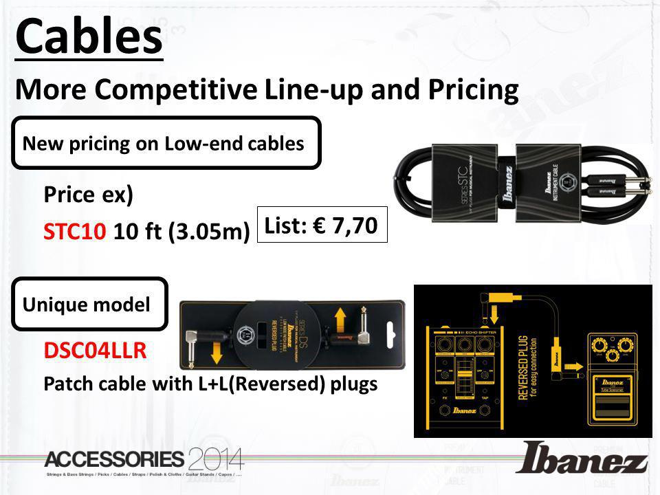 Cables More Competitive Line-up and Pricing Price ex)