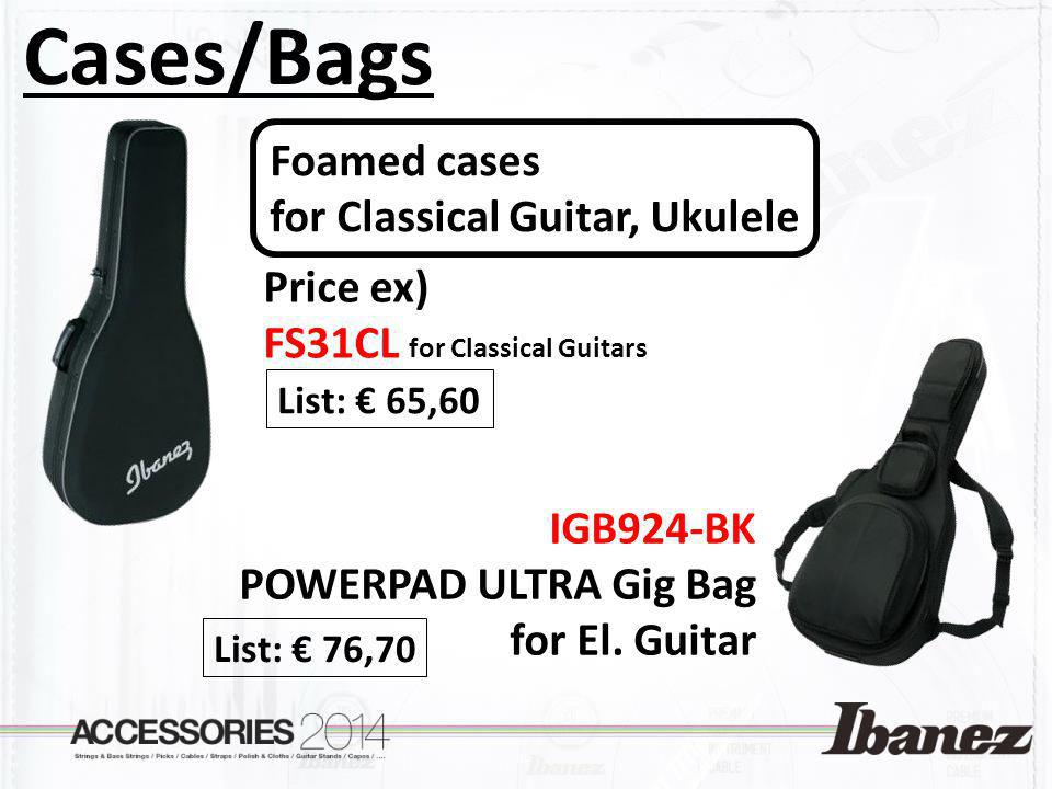 Cases/Bags Foamed cases for Classical Guitar, Ukulele Price ex)