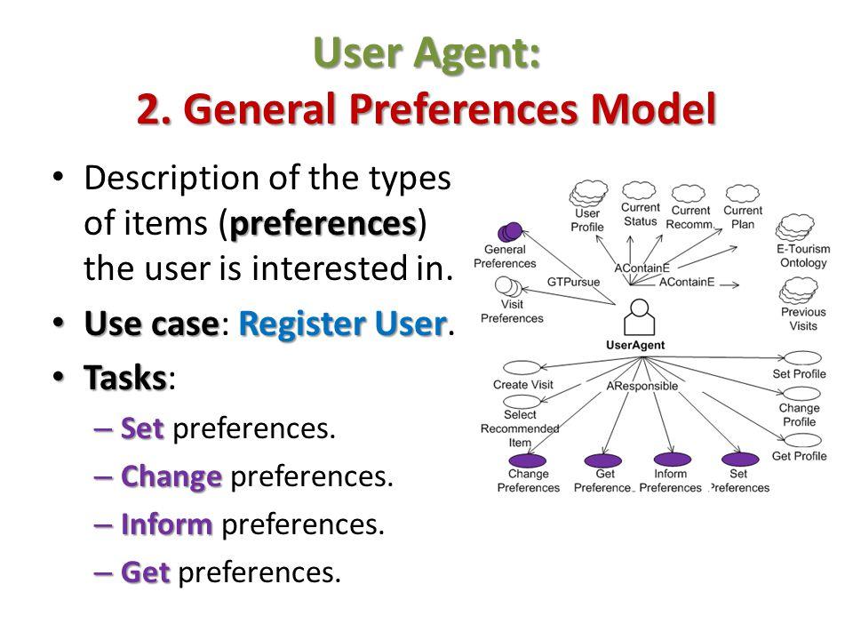 User Agent: 2. General Preferences Model