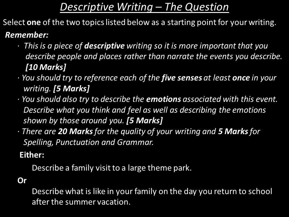 descriptive essay on a place   how to write a descriptive essay