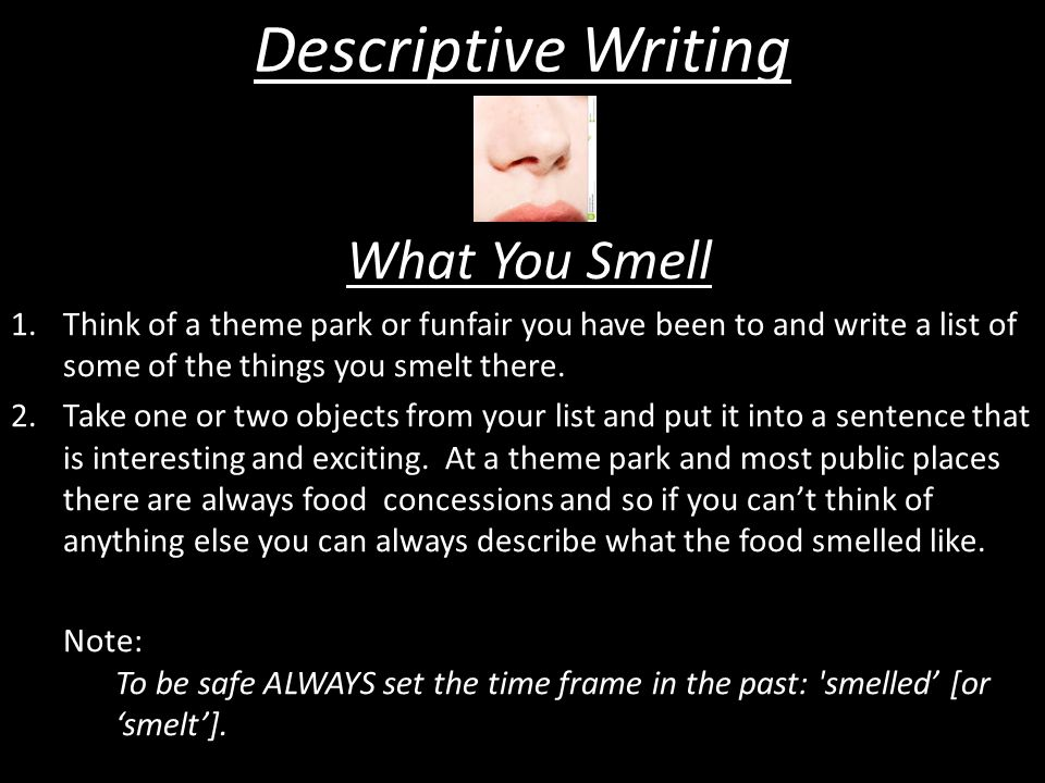 Descriptive Writing What You Smell