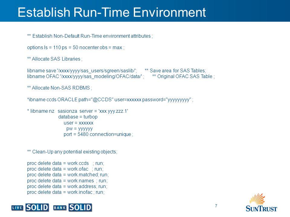 Establish Run-Time Environment