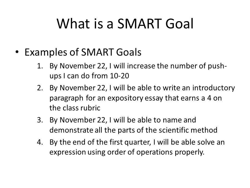 What is a SMART Goal Examples of SMART Goals