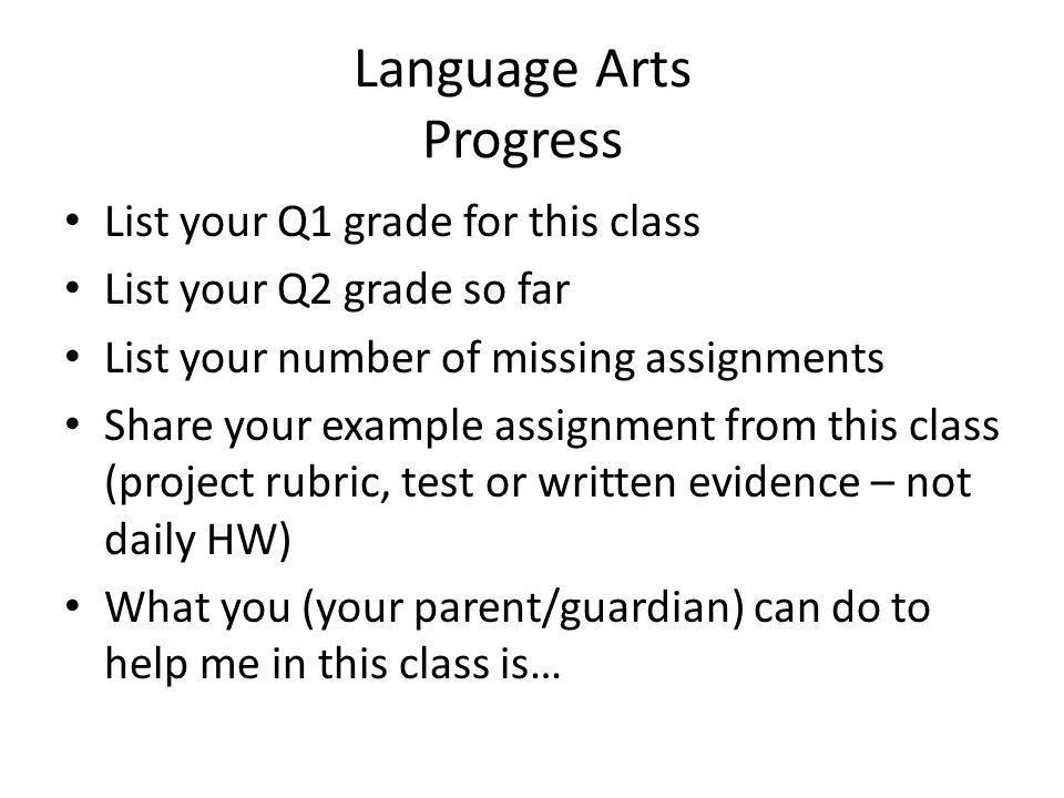 Language Arts Progress