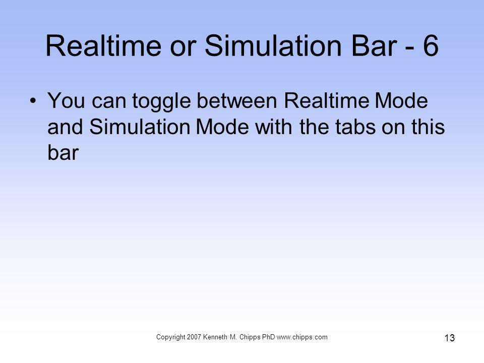 Realtime or Simulation Bar - 6