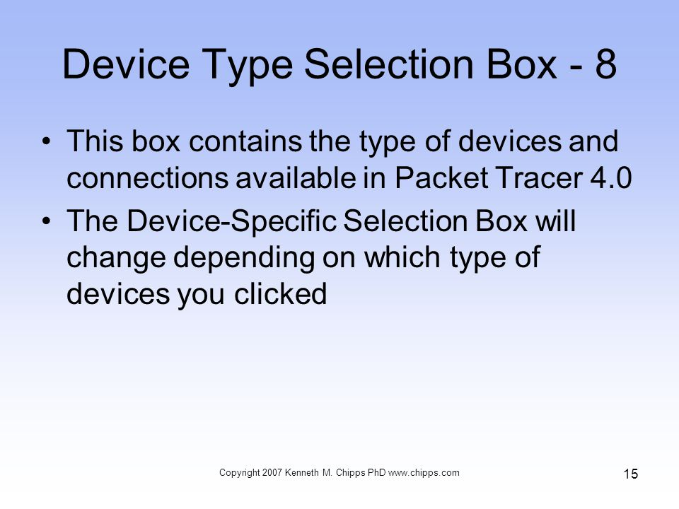 Device Type Selection Box - 8
